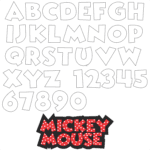 Moldes da Letra do Mickey Mouse
