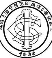 EMBLEMA DO S. C. INTERNACIONAL DE PORTO ALEGRE-RS PARA COLORIR 14