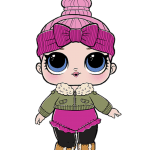 Bonecas LOL PNG – Serie 2 – Chill Out Club Cozy Babe PNG