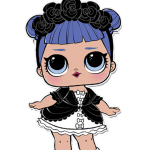 Bonecas LOL PNG – Serie 2 – Cosplay Club Midnight PNG