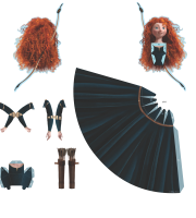 Molde Princesa Merida Paper Craft PNG