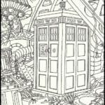 Figuras para Colorir e Imprimir do Doctor Who
