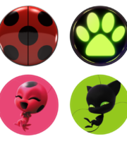 Miraculous As Aventuras de Ladybug - Bottons PNG