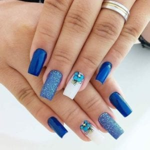 Unhas Decoradas AZUL - Blue Decorated Nails - Uñas Decoradas Azules -Blau Verzierte Nägel