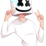 Marshmello Fanart, HD Png Download