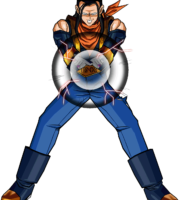 Androide 17 Goku Poder PNG