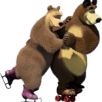 Cartoon Masha e o Urso PNG