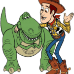 Cartoon T Rex Woody Toy Story PNG