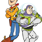 Cartoon Woody And Buzz Lightyear Toy Story PNG