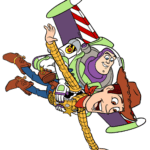 Figura Buzz Lightyear e Woody Toy Story PNG