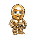 Cartoon C-3PO Star Wars PNG