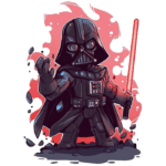 Cartoon Darth Vader Star Wars PNG