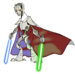Cartoon General Grievous Star Wars PNG