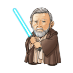Cartoon Obi-Wan PNG Star Wars PNG