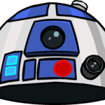 Cartoon Star Wars PNG R2-D2 PNG