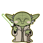 Cartoon Yoda Star Wars PNG