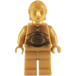 Figura Lego C-3PO PNG Star Wars PNG