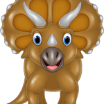 Triceratops Dinossauro Baby PNG