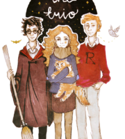 Trio Harry Potter PNG
