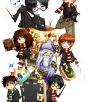 os Personagens Cute Harry Potter PNG