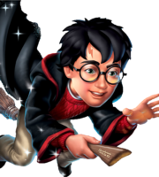 Voando Harry Potter PNG