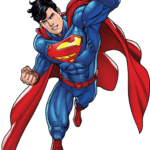 Superman Voando PNG