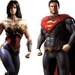 Wonder Woman and Superman PNG