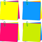 Colorido Post-it PNG