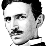 Drawing Nikola Tesla PNG