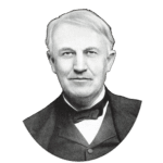 Inventor Thomas Edison PNG