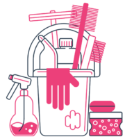 Maid service cleaner PNG