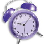 Purple Alarm Clock PNG