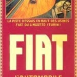 Fiat Old Car Poster