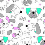 Background Dogs Arte Almofadas Pet