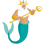 Clip Art King Triton Trident PNG