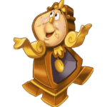 Cogsworth Beauty And The Beast PNG