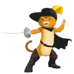 Desenho Puss in Boots PNG