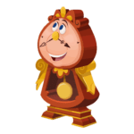 Figura Cogsworth Beauty And The Beast PNG