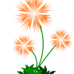 Sticker Abstract Flower PNG