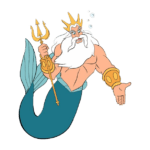 Transparent KingTriton Trident PNG