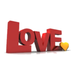 Foto Love Text PNG