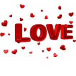 Image High Quality Love Text PNG