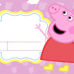 Convite Peppa Pig 97 PNG